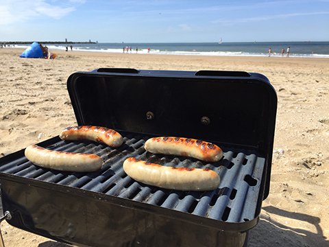 Weber Go Anywhere am Strand