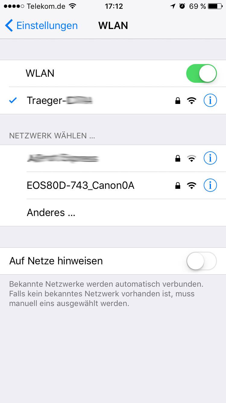 Traeger WiFIRE WLAN im Smartphone auswählen