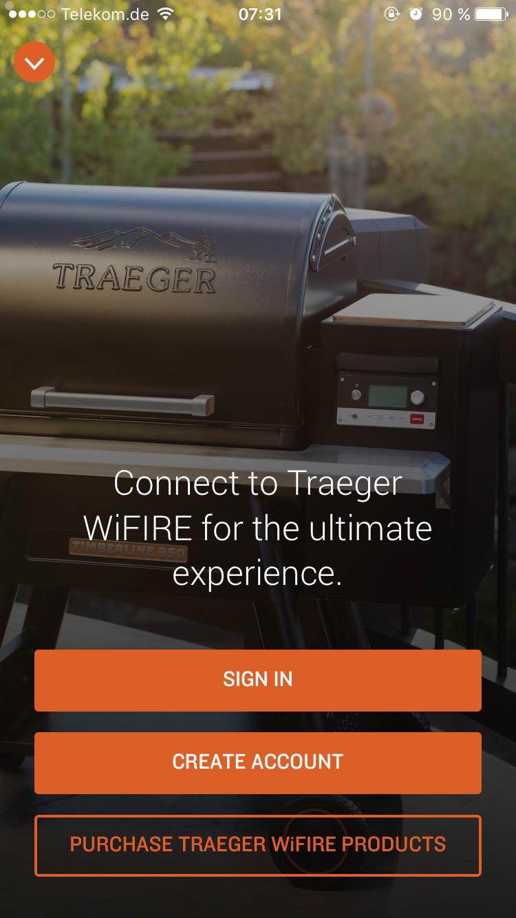 Traeger WiFIRE Login