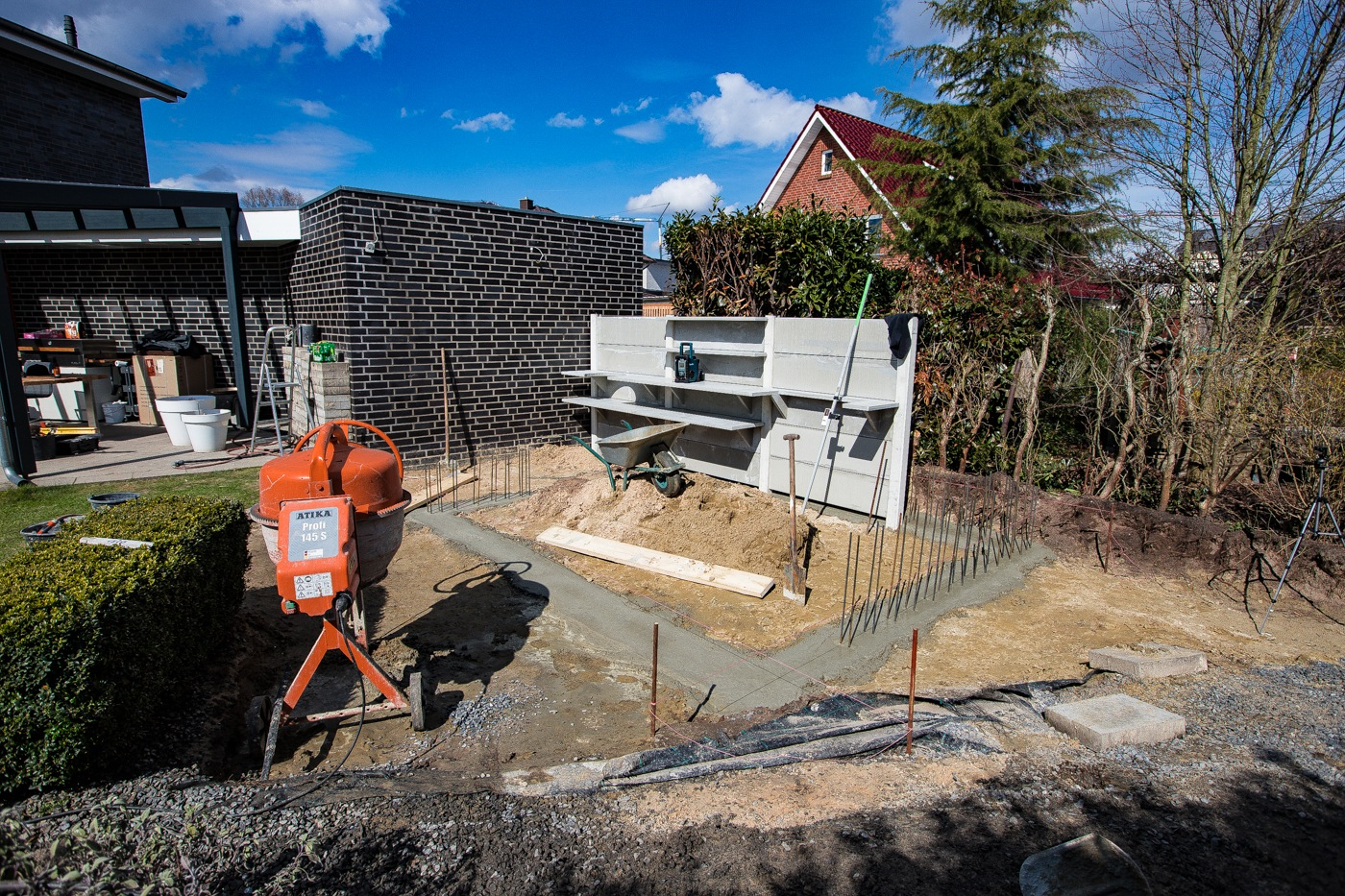 Fundamente für die Betonküche