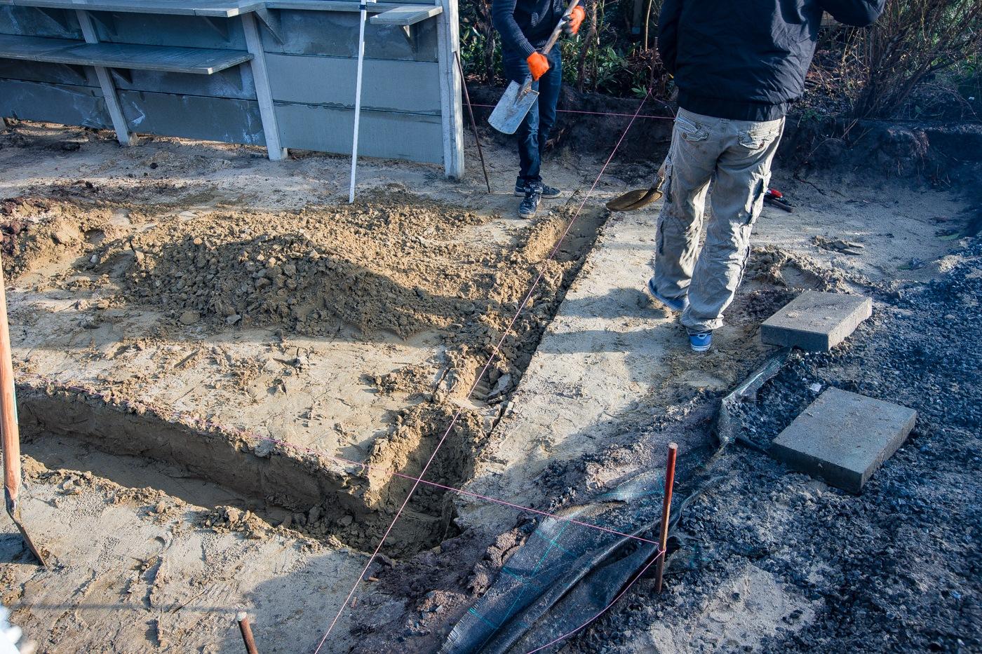Ausmessen für die Fundamente…